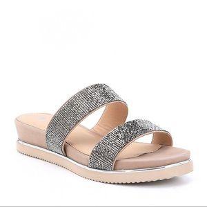 Antonio Melani Gloreila Boho Taupe Slip On Sandals